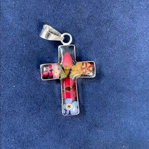 Handmade Silver Resin Cross
